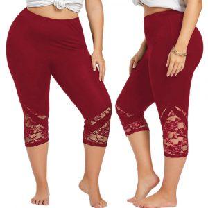 Plus Size Lace Leggings for Women