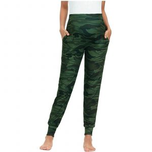 Green Camo Maternity Leggings