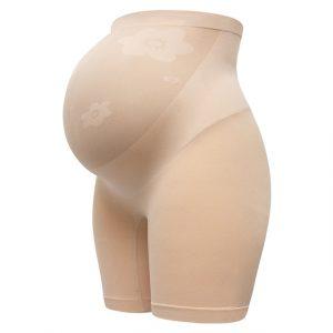 Beige Maternity Compression Short Leggings