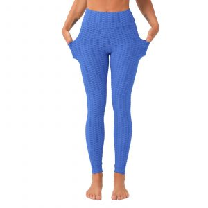 Royal Blue Butt Lifting Leggings with Pockets